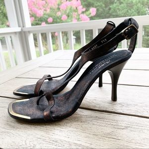 Couture DONALD J PLINER Nany Antique Metallic Heel